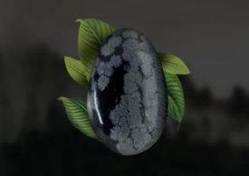 Obsidiana Floco de Neve ajuda a influenciar pessoas e atrair clientes